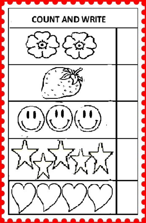 Count And Write Number Worksheets For Kindergarten by You Can