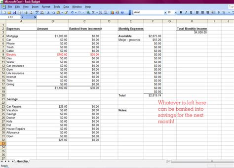 how to create a budget spreadsheet in excel spreadsheets