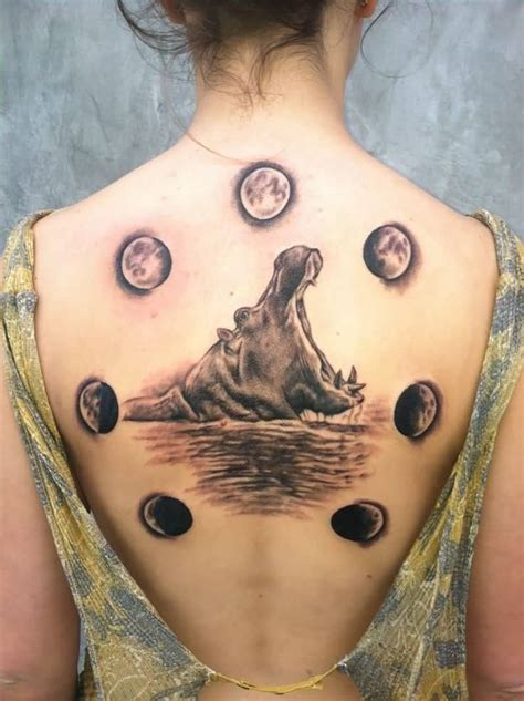 35 phases of the moon tattoos on back
