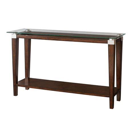 Hammary Sofa Table Hammary 247 925 Solitaire Sofa Table In Rich Brown