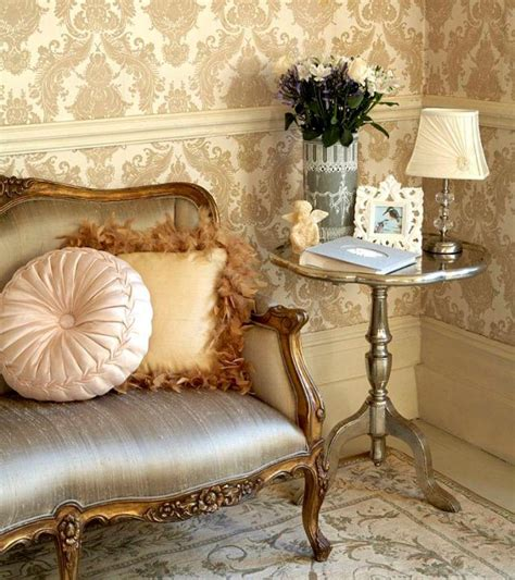 wallpaper decor classic 30 elegant and chic living rooms with damask wallpaper