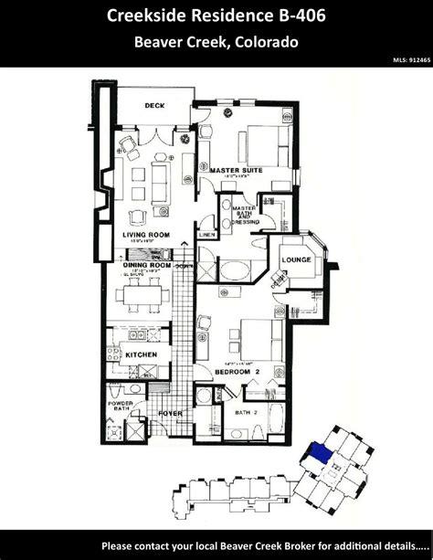 floor plans york creek creekside b 406 floor plan by vail beaver creek brokers