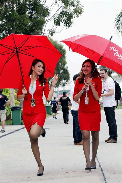 airasia stewardess air asia girls in formula one world stewardess crews