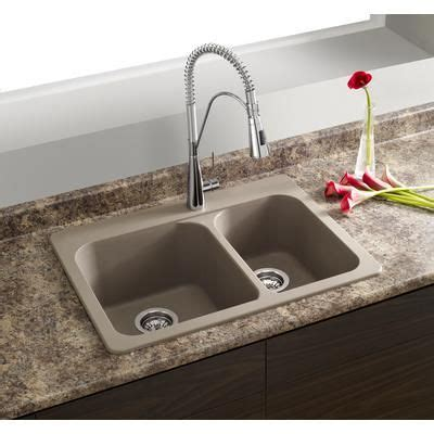 blanco silgranit natural granite composite topmount kitchen sink truffle sop home