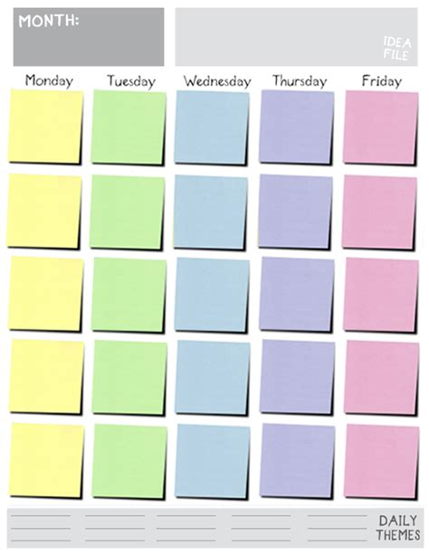 monday through friday calendar template 10 best images of monday through friday calendar template