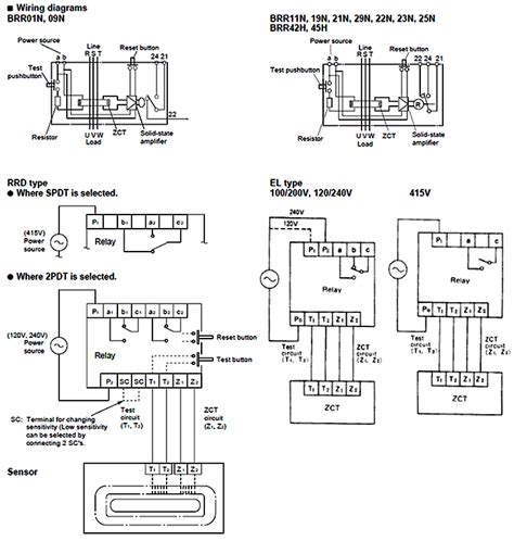 earth leakage relay wiring diagram change switch
