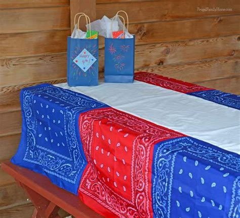 4th of july tablecloth easy bandanna tablecloth frugal family home