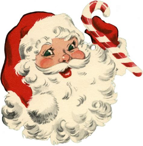 vintage santa  candy cane image  graphics fairy