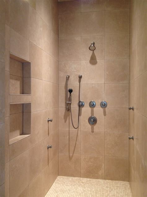 Shower Pictures by Travertine Walk In Shower Bathroom Remodel In The