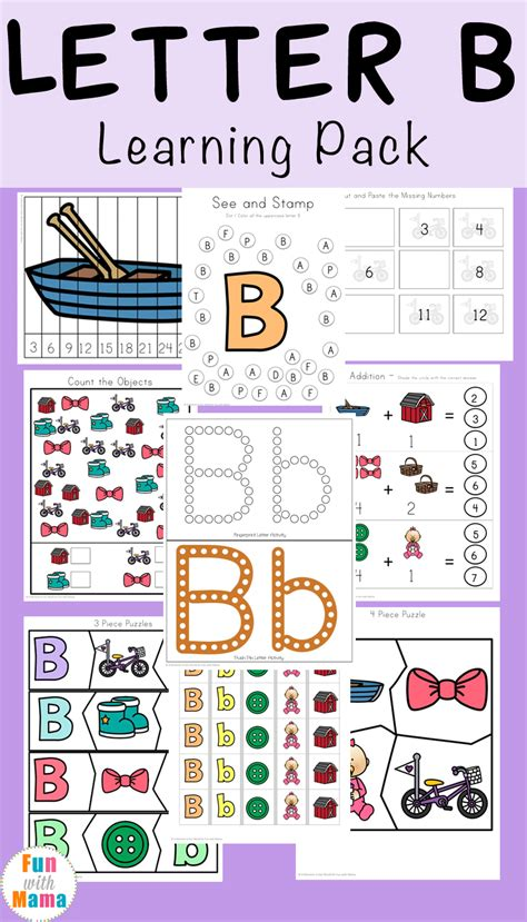 Letter Learning counting preschool letter worksheets b counting best