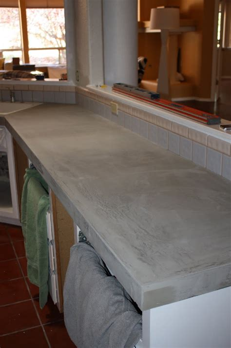 cement countertops quick install of concrete countertops kitchen remodel
