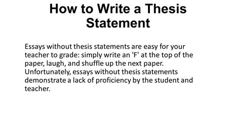 How To Make A Thesis Statement For A Research Paper - what is a thesis statement ppt