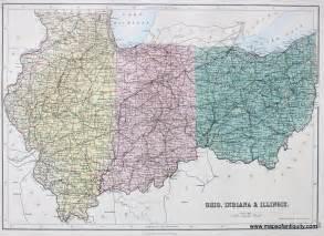 united states map of ohio ohio indiana illinois antique maps and charts