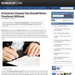 contract clauses you should never freelance without business resources study programs pearltrees