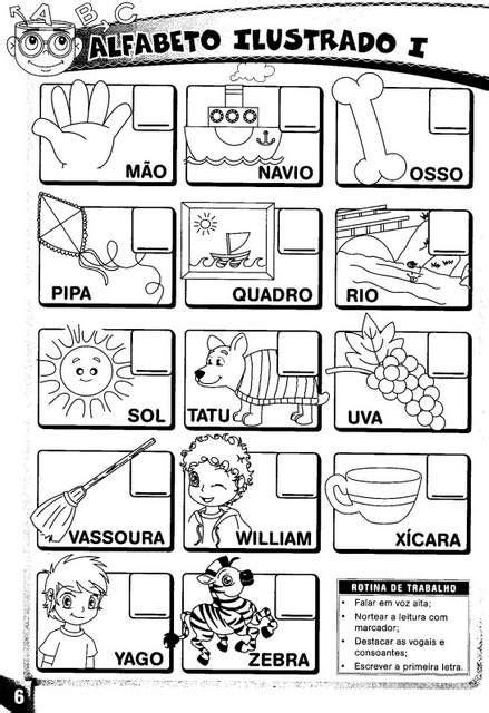 Alfabeto Ilustrado - Alfabetização Inteligente. - Aprender