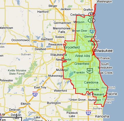 map of milwaukee area our metro milwaukee cleaning service area taken 2