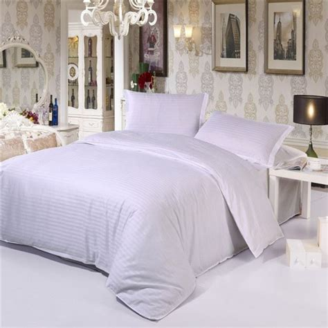 solid color comforter sets white streak hotel home textile bedding set queen king