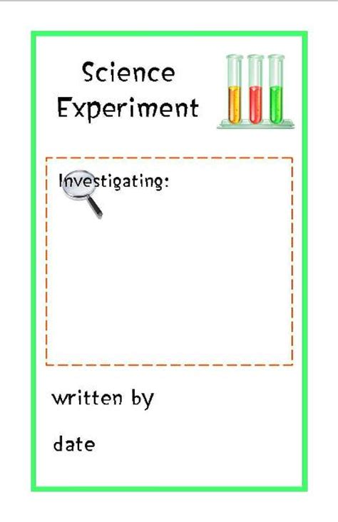 printable science observation journal science experiment log free printable booklet from