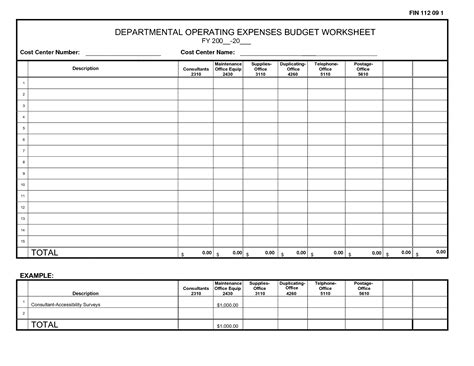 best photos of expense worksheet template printable