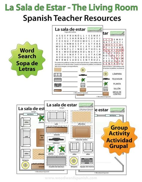 Living Room Lesson Plan Word Search And Activity About The Living Room In