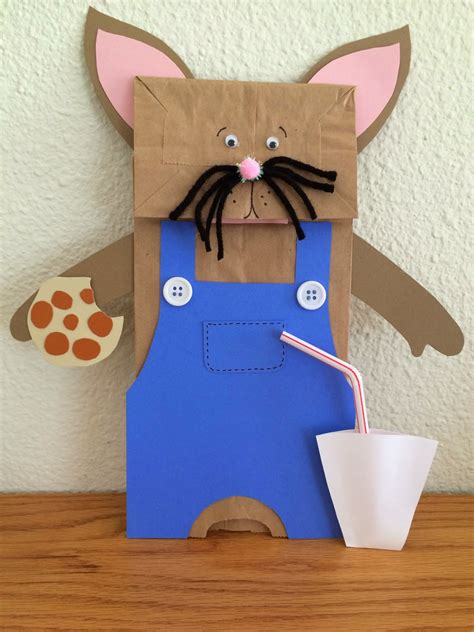 paper bag mouse puppet pattern kathy s angelnik designs art project ideas quot if you give