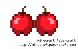 Minecraft Papercraft Food - papercraft apple
