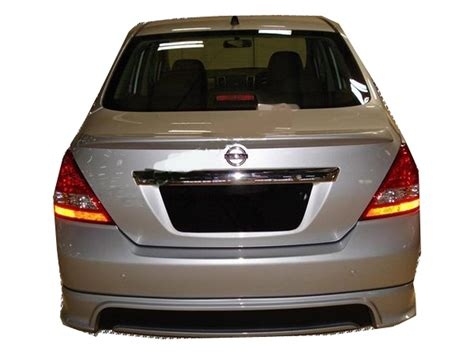 nissan tiida trunk space nissan tiida trunk deck lip spoiler n type versa sedan