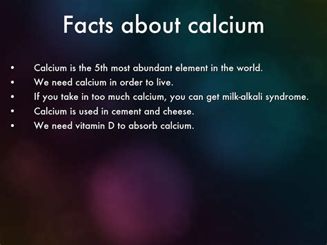 facts about calcium by emily c