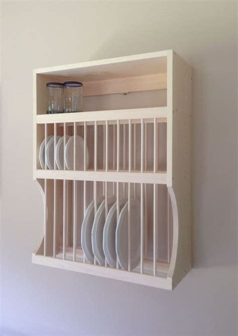 12 large 12 small plate rack with shelf