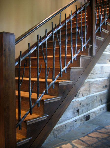 steel banister metal twig railing vintage style rustic farmhouse
