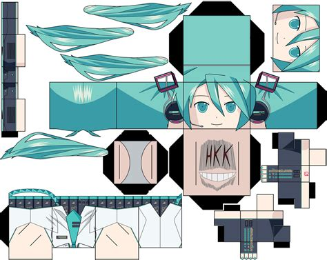 Papercraft Animation - hatsune miku v3 by hollowkingking on deviantart