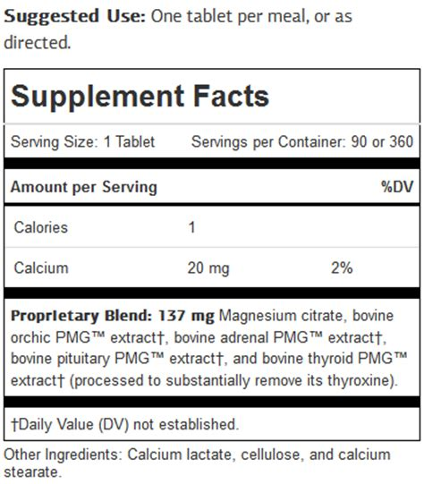 symplex m supplement testicular support adrenal pituitary and thyroid