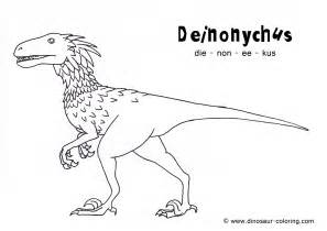 dinosaur coloring pages pdf deinonychus coloring