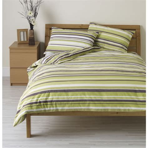 green striped comforter wilko duvet set double striped green at wilko com