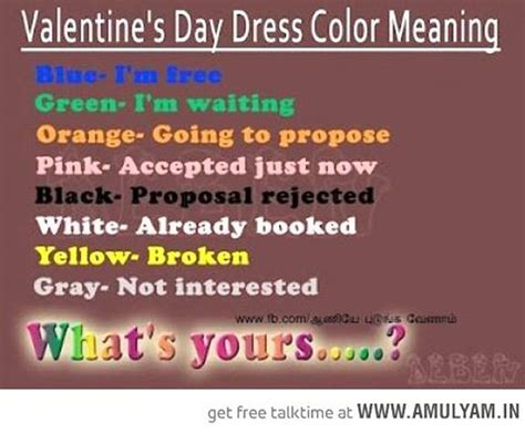 s day dress color code meaning 2018