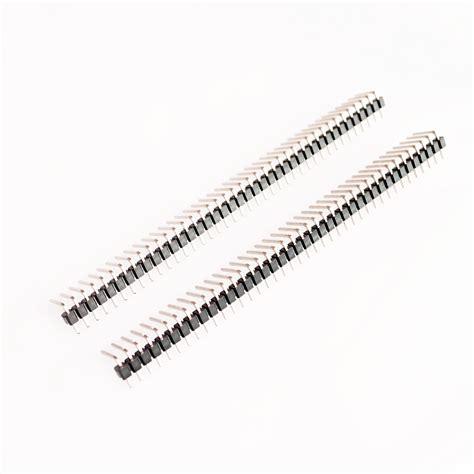 Cnc Pin Header Single Row 1x40 2 54mm Black Hitam tira de pines conexion lateral de 40 pines 2 54mm 5uds
