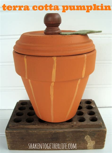 terra cotta crafts use a terracotta pot saucer to make a painted pumpkin