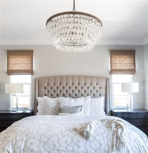 master bedroom chandelier master bedroom linen bed roman shades cream bedding