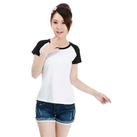Promo Murah Kaos Polos Katun Wanita O Neck 81401b T Shirt S kaos polos katun wanita o neck size m 86205 t shirt black jakartanotebook