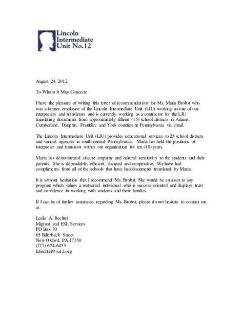 Recommendation Letter Exle Employee Letter Of Recommendation Former Employee The Letter Sle