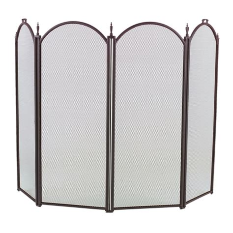 Arched Fireplace Screens by 4 Fold Arched Black Fireplace Screen 1189