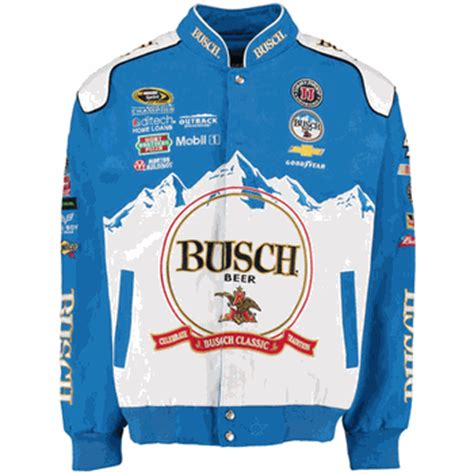 design your own nascar jacket kevin harvick busch beer mens blue twill nascar jacket by