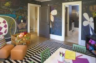 chalkboard painted playroom