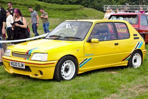 peugeot yellow yellow peugeot 205 rallye k620djm retro rides gathering