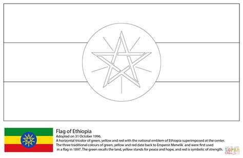 ethiopia map coloring page ethiopia flag free coloring pages