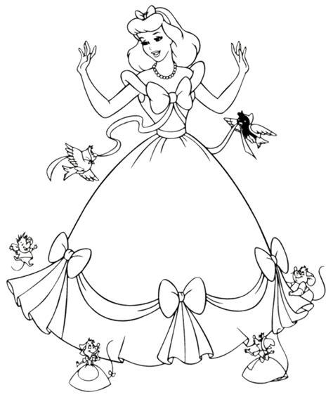 Printable Cinderella Coloring Pages Free Printable Cinderella Coloring Pages For Kids