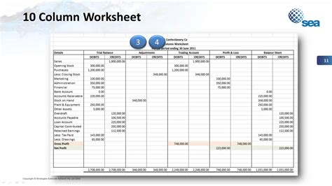 10 Column Worksheet Explained Youtube 10 Column Worksheet Excel Template
