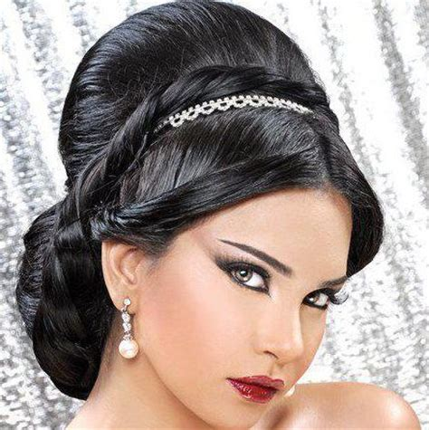 Arabic Wedding Hairstyles by Arabic Hairstyles Arabic Wedding Hair Style