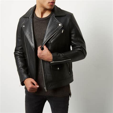 mens leather biker jacket black leather biker jacket jackets coats jackets