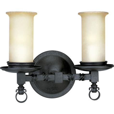 black bathroom lighting progress lighting santiago collection 2 light forged black